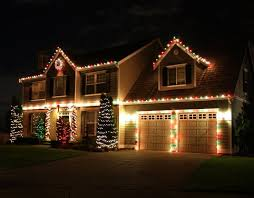 red and white christmas lights on house lights decoration