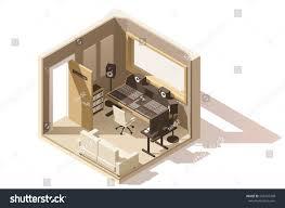 recording studio floor plan vector isometric low poly recording studio stock vector 556437268