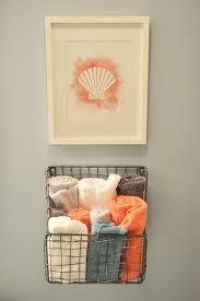 Blue And Orange Bathroom Decor Accessories For Nautical Bathroom Decoration Using Rectangular