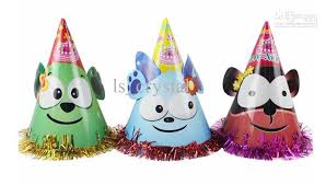 party hats 2 size glossy dog party hats for birthday party kids