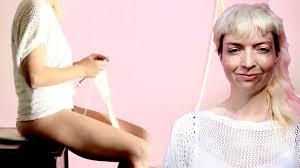 woman s virgina woman puts wool inside her vag as art vaginal knitting youtube
