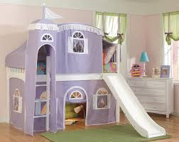 Bunk Bed Tent Canopy Lovely Purple Castle Tent Bunk Bed Curtains With White Stairs