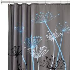 Blue And Brown Curtains Interdesign Thistle 72 In X 72 In Shower Curtain In Gray Blue