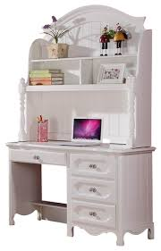 White Desk With Hutch And Drawers Homelegance Homelegance Hayley 4 Drawer Desk With Hutch In