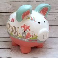 Personalized Silver Piggy Bank Personalized Handpainted Piggy Bank Large Harry By Pigpatrol
