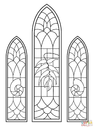 stained glass windows from wedding chapel coloring page free