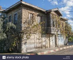 old house old house in tasagil with the typical wooden oriel stock photo
