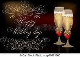 happy wedding day happy wedding day invitation card vector illustration clip