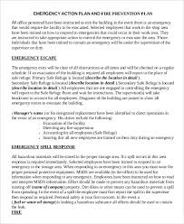 emergency action plan template 9 free sample example format
