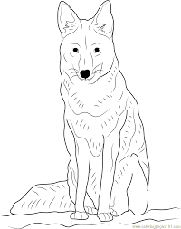 Precious Moments Halloween Coloring Pages Coyote Sitting Coloring Page Free Coyote Coloring Pages