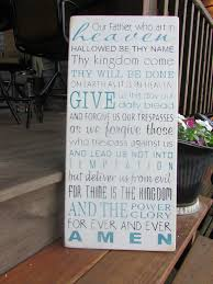 lords prayer sign cottage chic primitive rustic country home