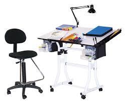 Drafting Table Hobby Lobby Amazon Com Martin Creation Station Art Hobby Table And Chair Set