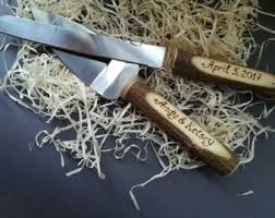wedding cake knives and servers personalised rustic cake server etsy