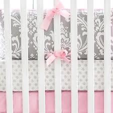 Damask Crib Bedding Sets Gray And Pink Damask Baby Bedding Crib Bedding Baby