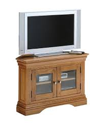 Wooden Cabinet With Glass Doors Clermont Oak Corner Tv Cabinet With Glass Doors Furniture Intended