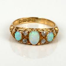 cornflower blue opal opal rings buy antique opal and diamond ring made in 1909 sold