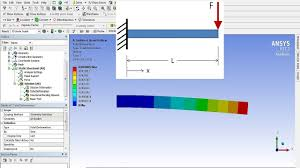 tutorial 3 cantilever beam problem using ansys workbench youtube