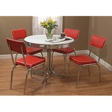 Retro Dining Room Tables by Amazon Com Target Marketing Systems 5 Piece Retro Dining Set