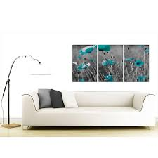 teal poppy canvas wall art set of 3 for your dining room display gallery item 4 3 part floral canvas prints uk 125cm x 60cm 3139 display gallery item 5 set of three flowers canvas wall art