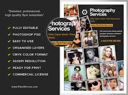 free photography flyer template 2