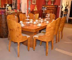 antique art deco birdseye maple dining table u0026 8 chairs