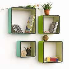 cool wall shelves home decor cool blue and green wall