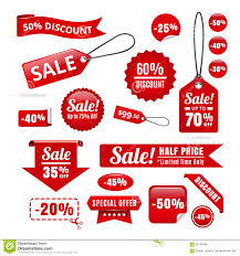 ribbons for sale sale discount tags badges and ribbons stock vector image