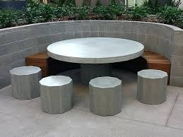 cement table and bench concrete tables and benches table set w 3 benches concrete tables