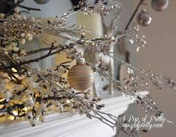white tree with silver decorations ne wall