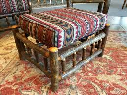southwestern chairs and ottomans ottoman red green southwest fabric design with consignment llc