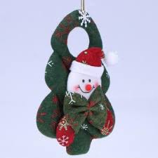 tree santa claus household ornaments pendant green