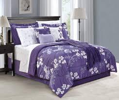 Purple Floral Comforter Set Living Colors Milly Purple Floral 12 Piece Comforter Sets Big Lots