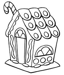 gingerbread house clipart black white clipartxtras