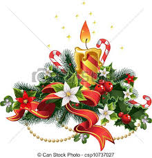 vector illustration of christmas candle light with decorations