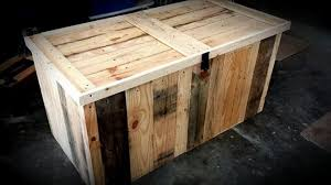 Diy Build Toy Chest by Diy Pallet Storage Trunk Kid U0027s Toy Chest 99 Pallets