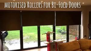 blinds for bi fold doors motorised roller blinds youtube