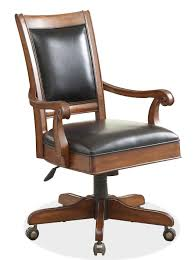 Desk Chair Leather And Wood Desk Chair Home Design