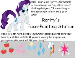 oiralinde my little pony carnival cutie mark face painting