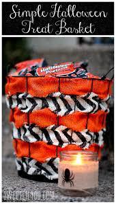 halloween basket simple diy halloween treat basket sweet lil you