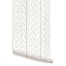Peel And Stick Removable Wallpaper by Herringbone Line Wallpaper Peel And Stick