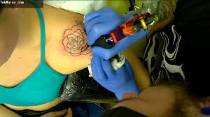 pair of roses shoulder tattoo video youtube