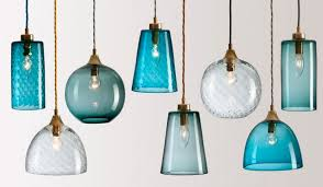 Blue Glass Pendant Light Rothschild Bickers N Mix Colored Glass Pendants Blue And
