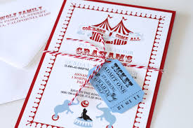 custom circus invitations embellished paperie blog circus themed 2nd birthday party