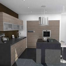 cuisine en bois design ilot central bar cuisine cuisine blanche et bois design et de 2018