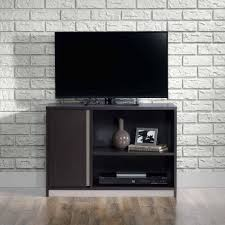 Sauder Tv Stands And Cabinets Sauder Square 1 Carbon Ash Tv Stand For Tvs Up To 36
