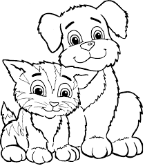 dog and cat coloring pages fleasondogs org