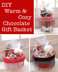 diy warm and cozy chocolate gift basket ideas i think i will be