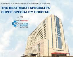 india u0027s best multispeciality hospital in mumbai kokilaben hospital