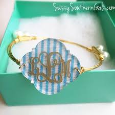 Monogrammed Bangle Bracelet 476 Best Monogrammed Images On Pinterest Monogram Gifts