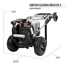black friday pressure washer sale amazon com simpson cleaning msh3125 s 3100 psi at 2 5 gpm gas